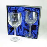 Crystal Wine Glasses Pair PERSONALISED ref DWPR